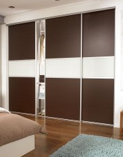 Standard contemporary fineline sliding wardrobe doors